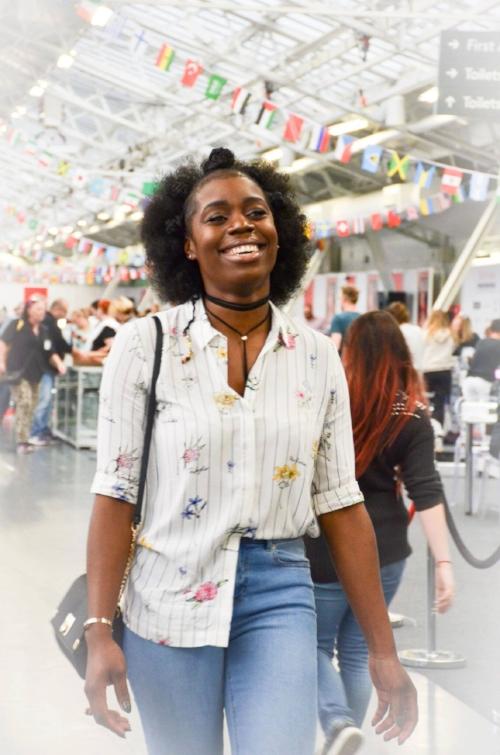 Cherisea Giddings, #YemziGirl January,a Bachelor of Arts International Business graduate from the University of Greenwich in London.