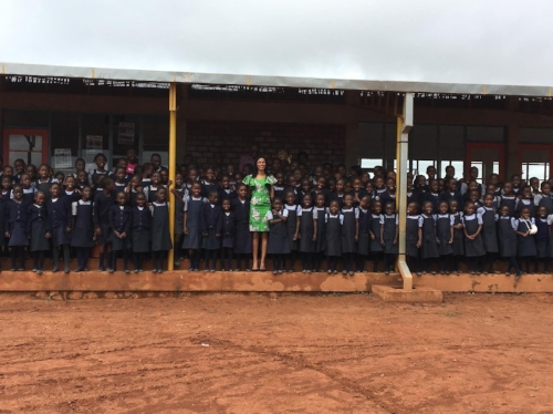 Standing strong the students at Malaika in Lubumbash, DRC.Image by Nisian Hughes
