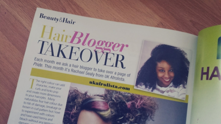 PRIDE Magazine hair blogger takeover