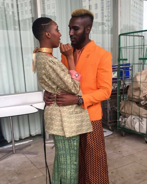 Behind the scenes at Africa Utopia 2016, curated by Agnes (we spot out Yemzi silk trousers)