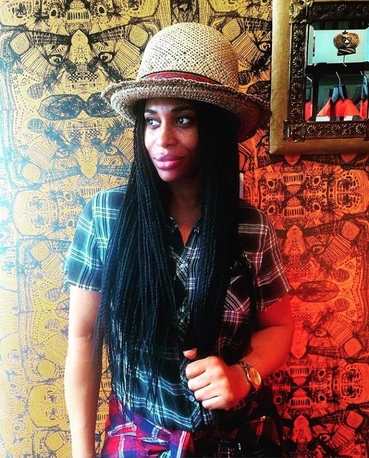Caroline in Duro Olowu's boutique, 2017