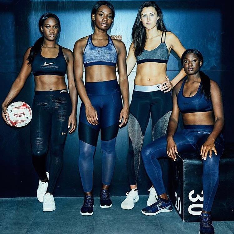 Sasha with England team in Nike campaign