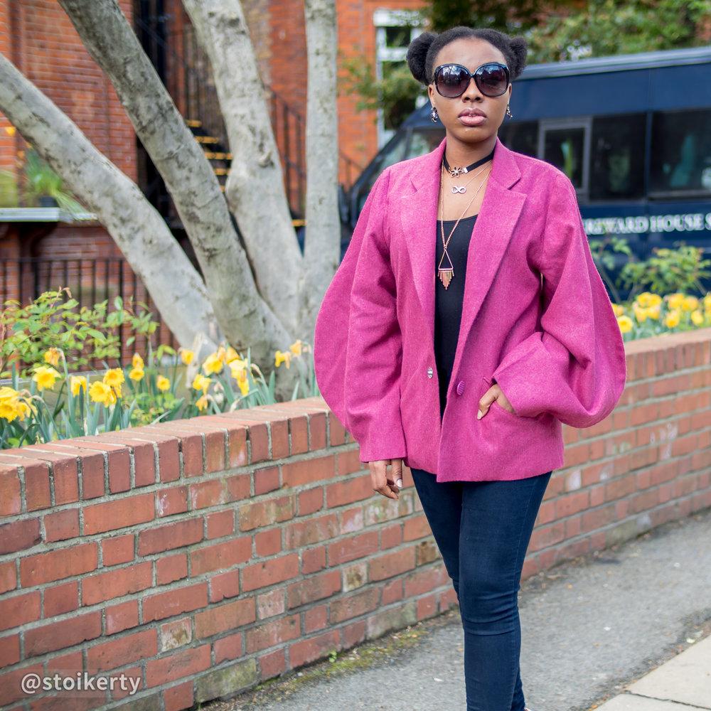 Priscillia modelling her 'Monki' jacket
