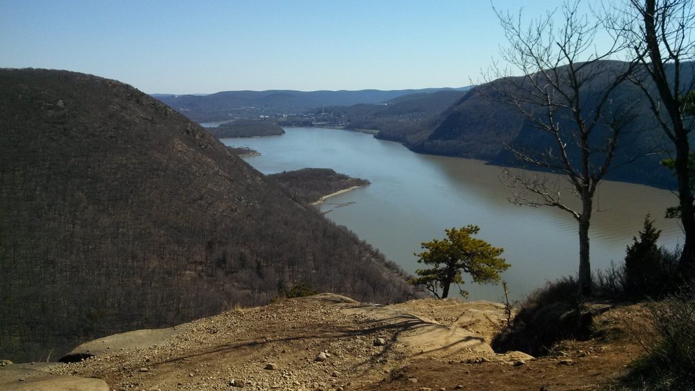 Mount Taurus, Cold Spring and West Point from the summit of the Breakneck Ridge