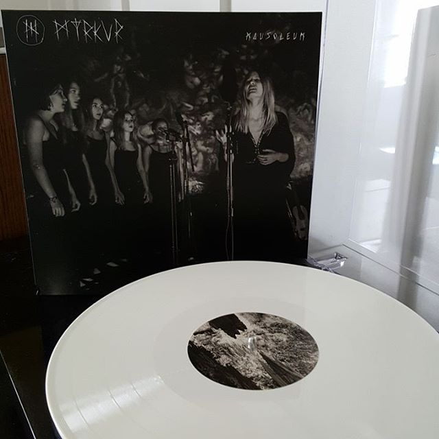 """You won't hear it mentioned in the 'album of the year' conversation, but Myrkur's 'Mausoleum' is a masterpiece of a different kind. Hearing these songs, reimagined and reworked with a choir, is breathtaking. And before the usual people chime in with """"it's not trve metal!"""", just save it. If 2016 has done nothing else, it's once again expanded the boundaries of heavy music. White vinyl.  @myrkurmyrkur #Myrkur #Mausoleum #RelapseRecords #metal #yesreally #blackmetal #vinyl #vinylclub #vinyligclub #igvinylclub #vinylcollection #vinylcollectionpost #vinylporn #vinyljunkie #coloredvinyl #whitevinyl #vinylcollector"""