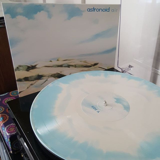 I'd say that Blood Music nailed this pressing of Astronoids's new album, 'Air.' The clouds and blue sky color matches the artwork, which in turn matches the album's sound; it's bright, with patches of clouds. The two go hand in hand, really. And with a new distribution deal with Red, the slate of Blood Music releases will soon be available to your favorite indie record store. They won't be this cool - black versions only - but they'll be waiting in a record bin near you.  #Astronoid #Air #BloodMusic #dreamthrash #metal #metalvinyl #vinyl #vinylclub #vinyligclub #igvinylclub #vinylcollection #vinylcollectionpost #vinylcommunity #vinyljunkie #vinylporn #coloredvinyl #instavinyl