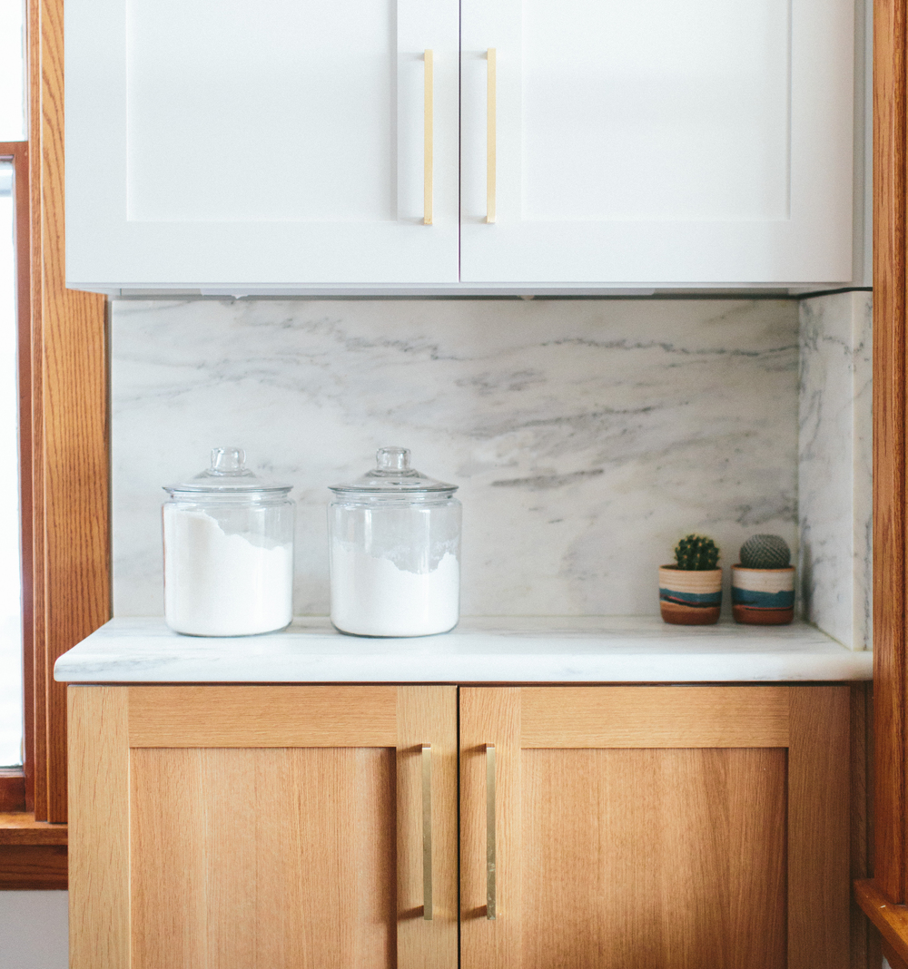 Imperial Danby used in the Logan Square Residence on kitchen counters and backsplash