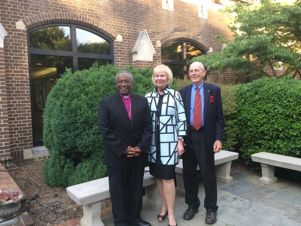 Presiding Bishop Curry, Peggy and Dr. A. Gary Shilling