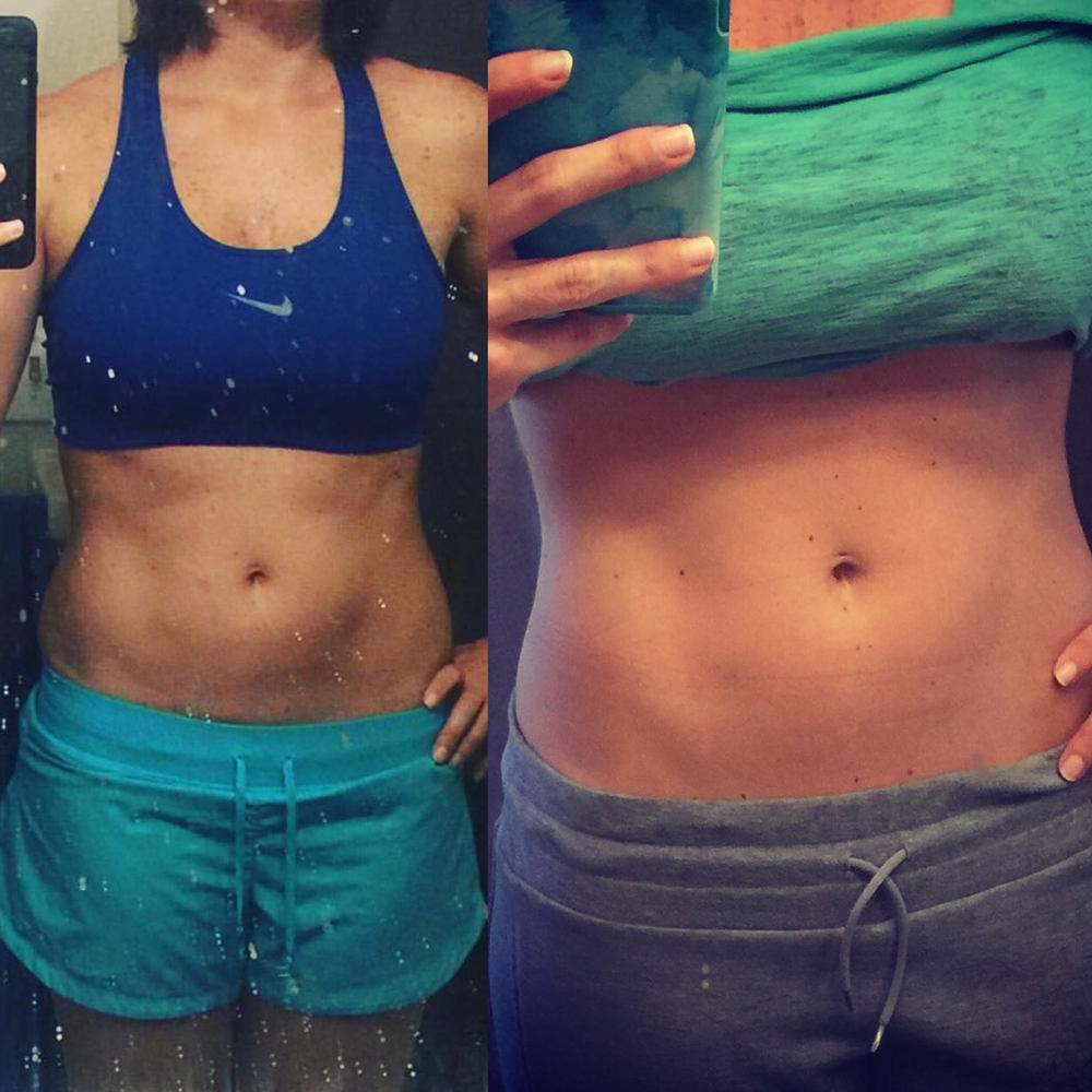 Nicole's transformation between September 2015 and Jan 2016.