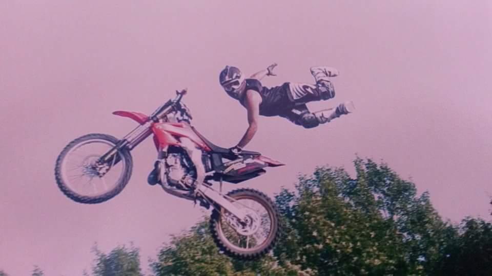 OG athlete doing an incredible motocross stunt.