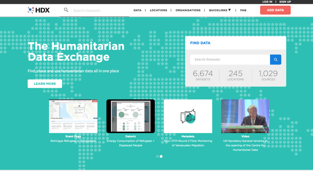 HDX: HUMANITARIAN DATA EXCHANGE
