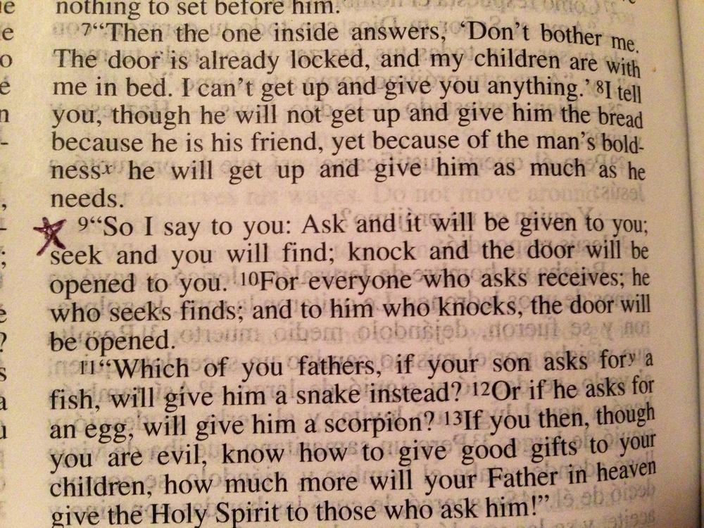 Luke 11:9-10