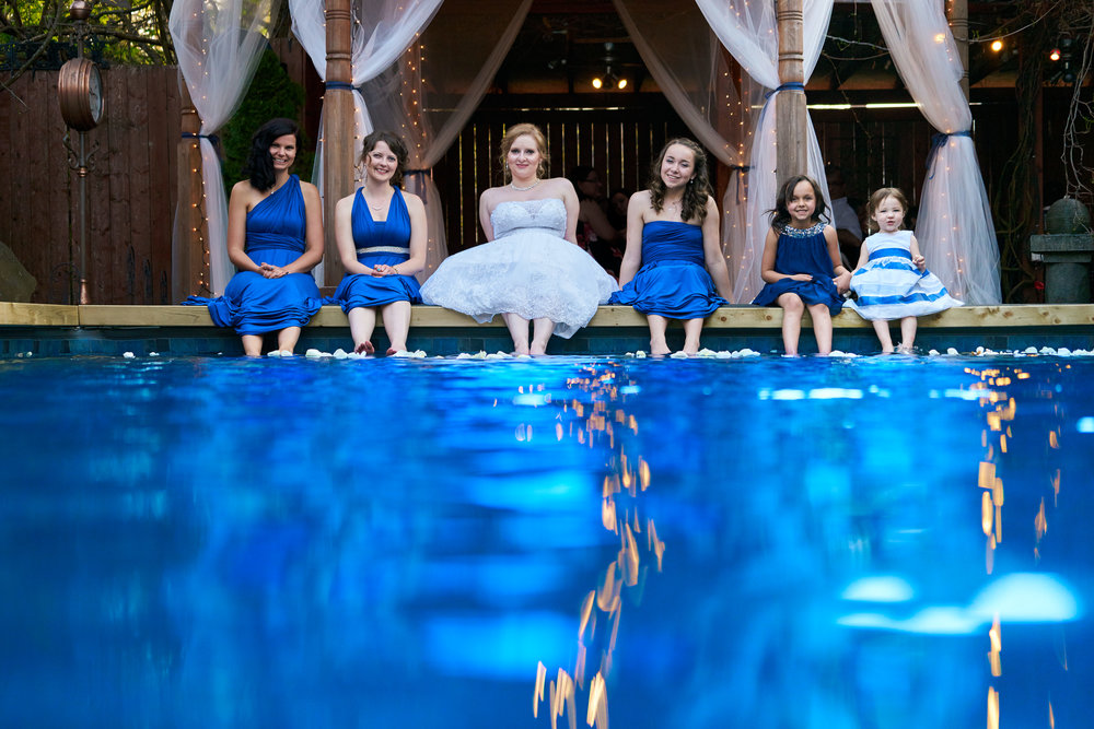wedding bridesmaids pool