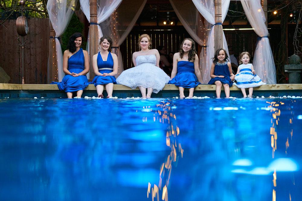 wedding bridesmaids pool