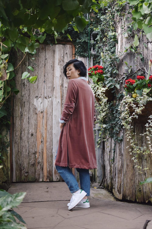 DIY: Velvet Cardigan/Kimono — iamwithwendy