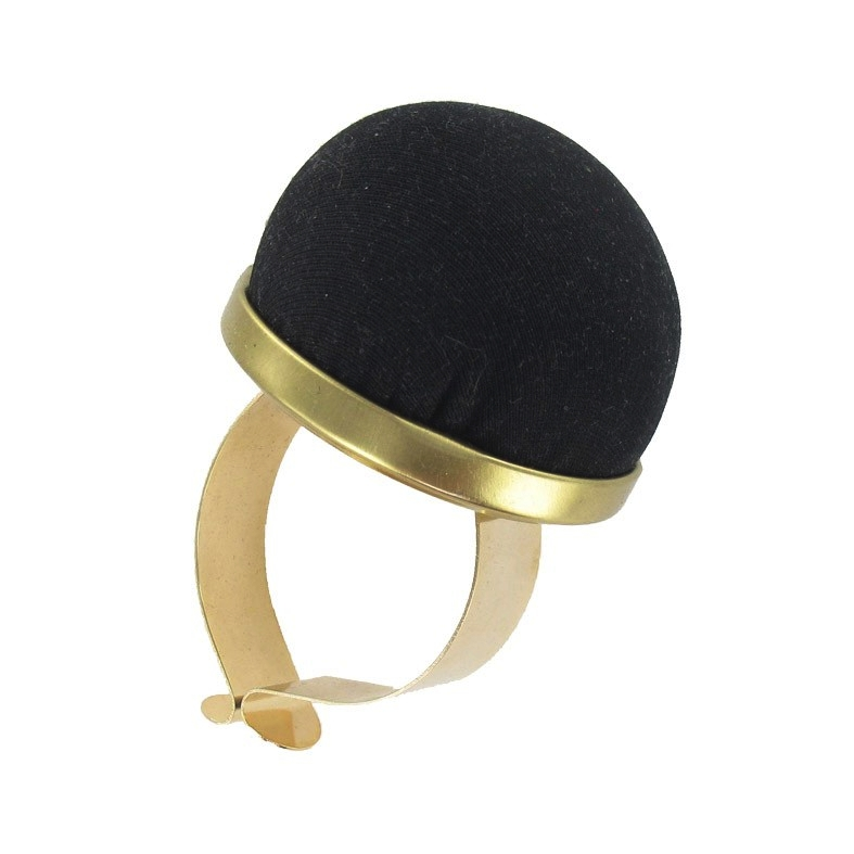 Black and Gold Wrist Pincushion