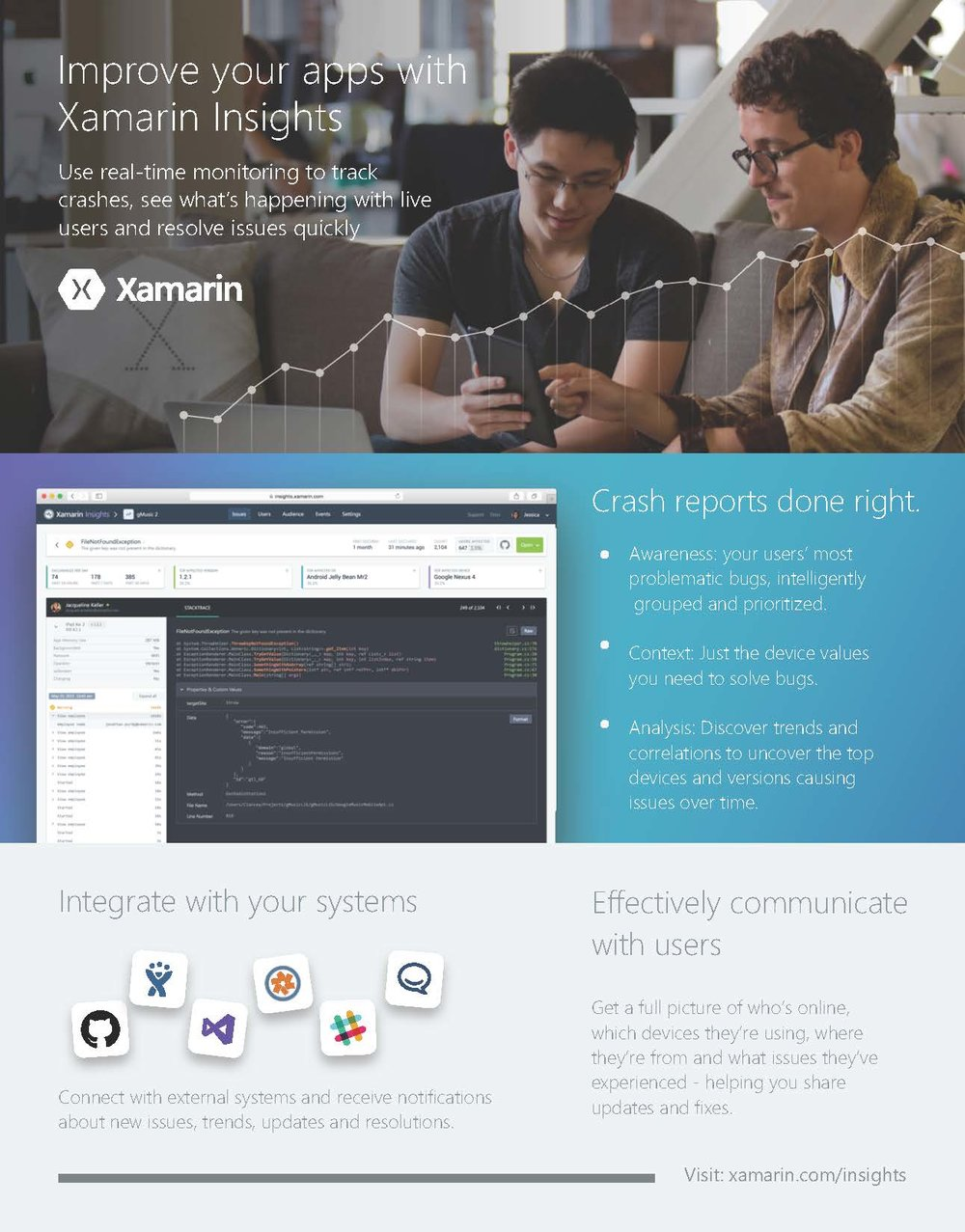 Xamarin One Pager