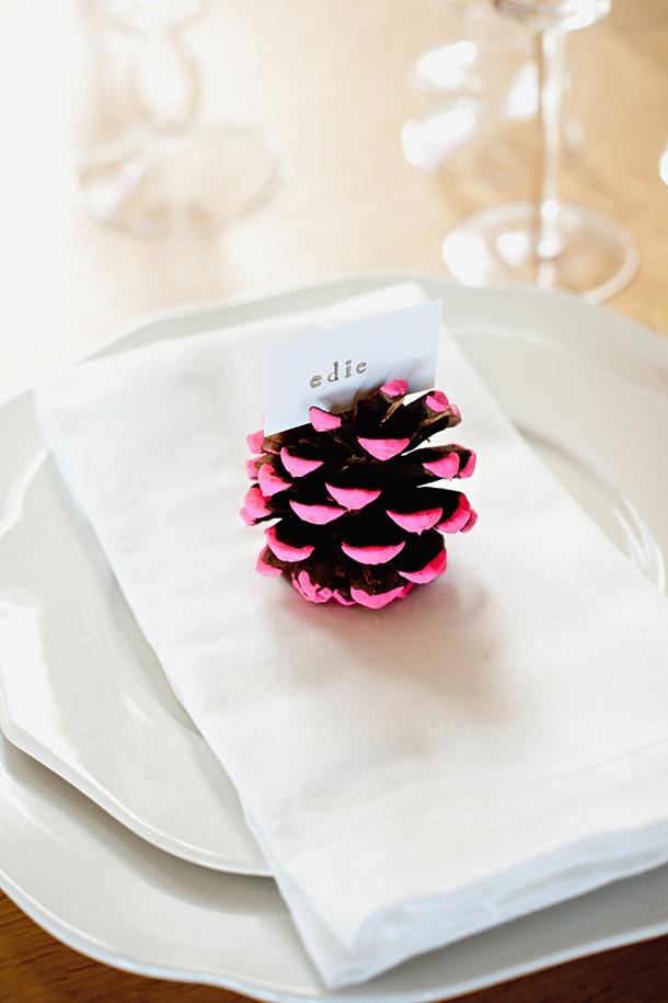 Neon Paint, Mini Pinecones, White Linen (camilestyles.com)