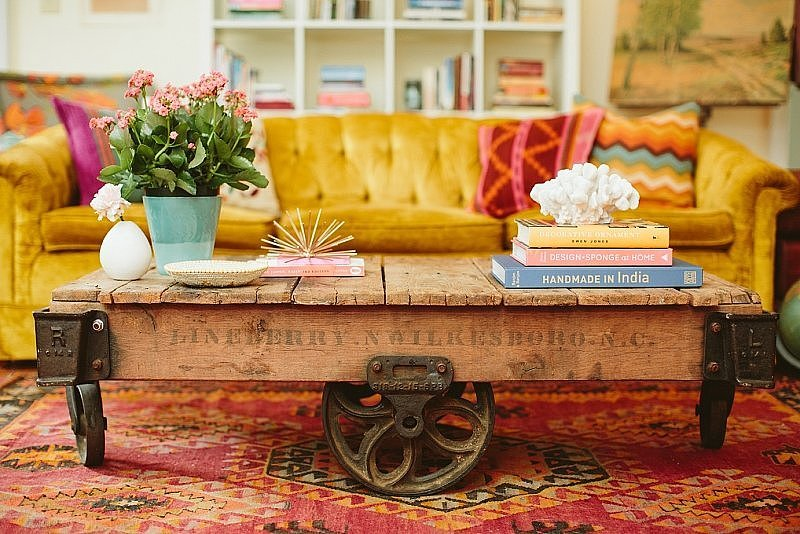 Instead of going the obvious route, try pairing a traditional piece of furniture with something unexpected. Start with alternatives for coffee tables and headboards! Via  The Everygirl