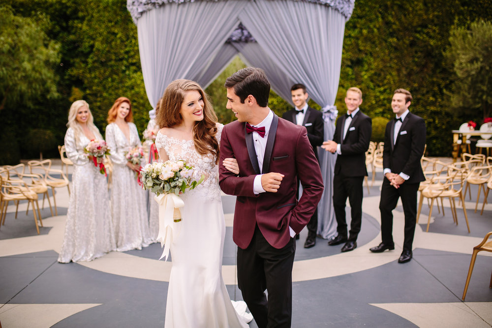 Glam Hollywood Wedding Featured On Bridestory Love Luxe Life And