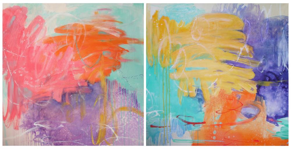 True Colours 1 & 2, 92 x 92cm
