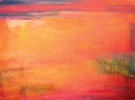 Abstract in Red 60 x 120cm