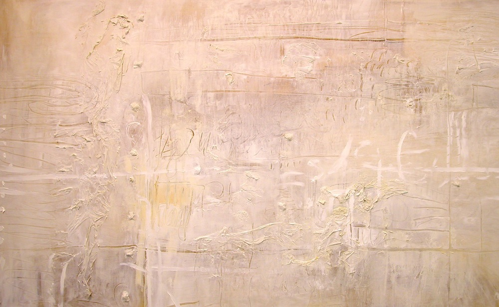 Raw Edge in White 120 x 160cm