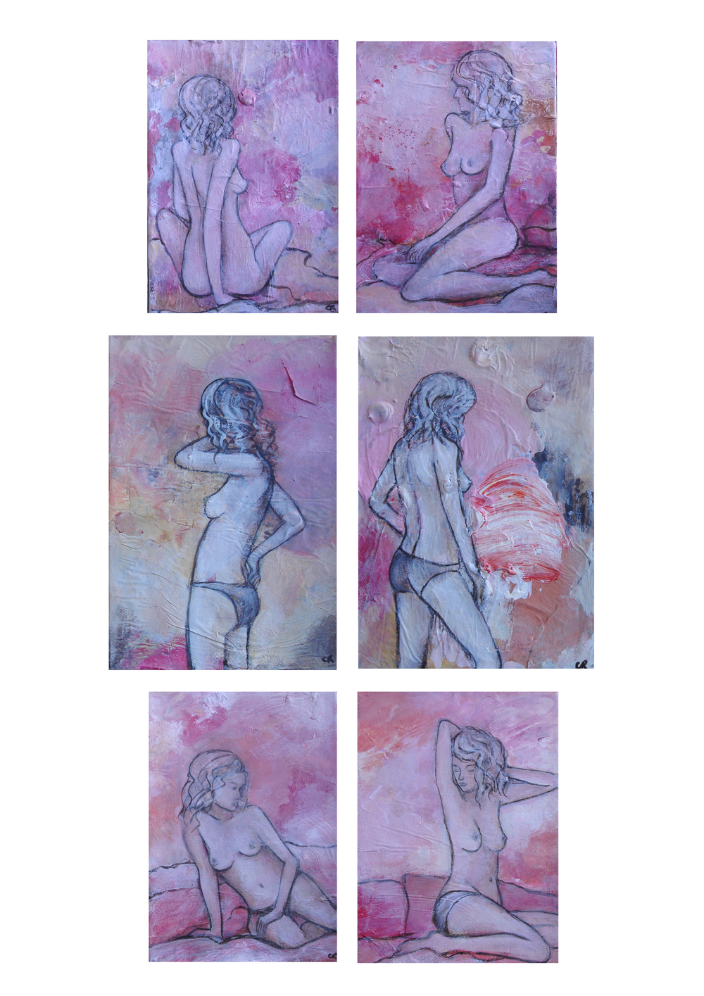 Fluff & Giggle Nude Series 13 x 15cm each