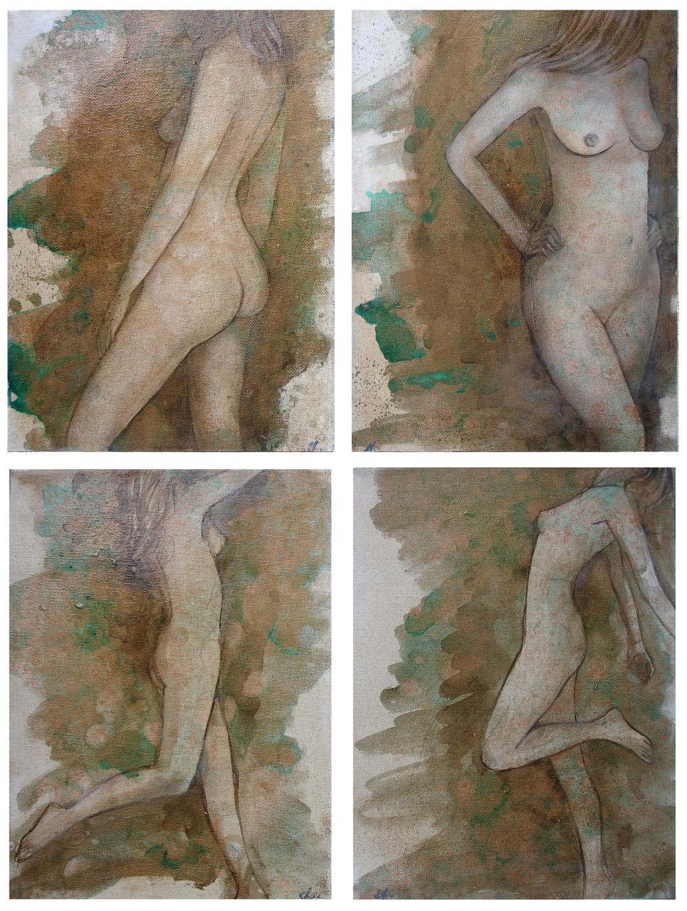 Bronze Nudes 20 x 30cm (each)