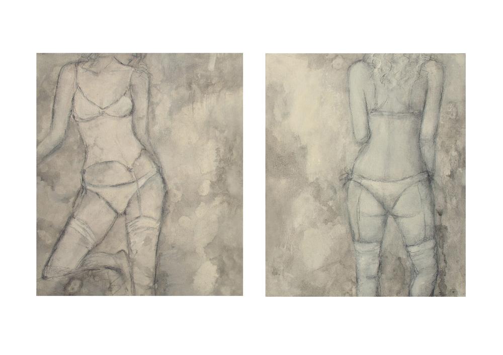Beyond a Shadow, 28 x 34cm each