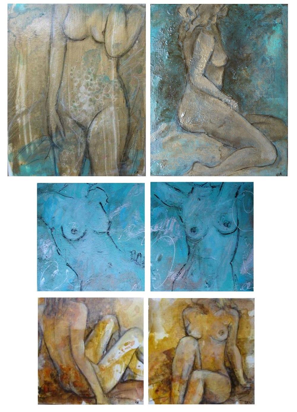 Blue Nudes 20 - 30cm