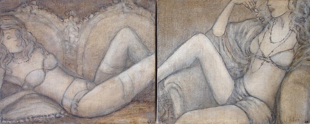 Vintage Vixen, 26 x 20cm