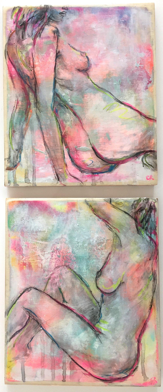 Neon Pop Nudes 25 x 30cm each