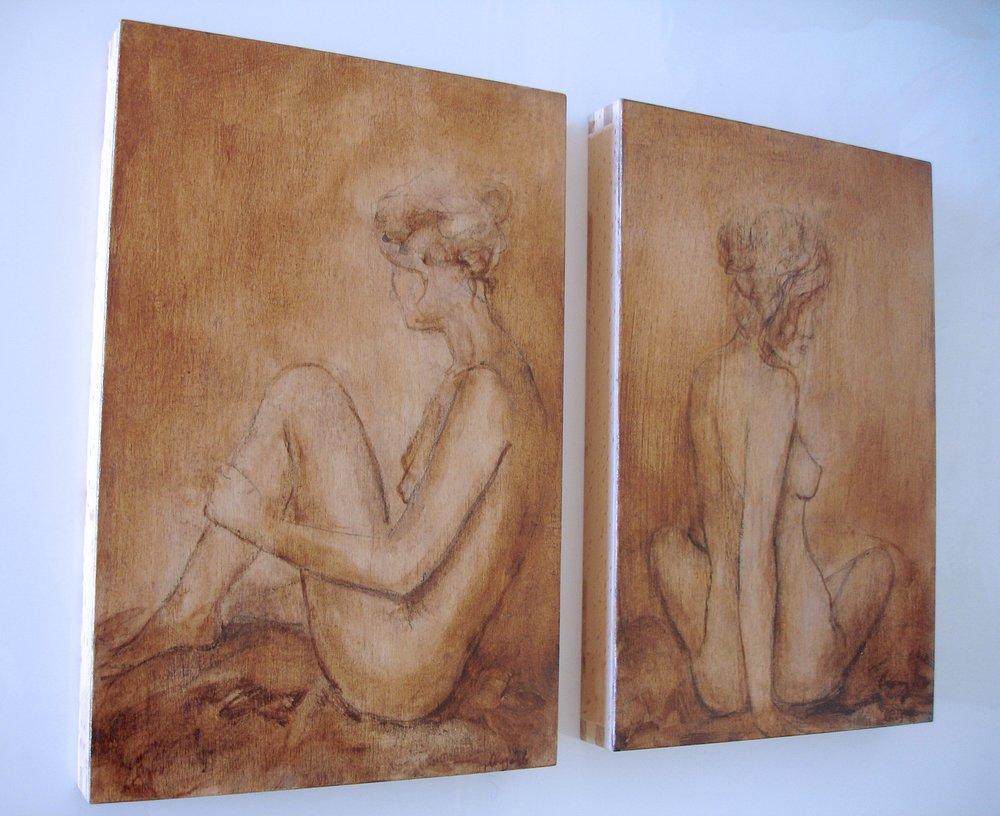 Eternity Nudes, 20 x 30cm each