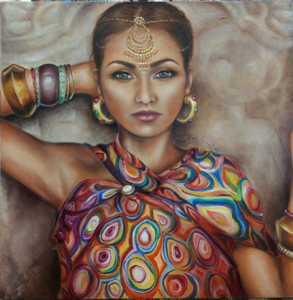 Jodi Lonstien, Indian Lady, 2017.jpg