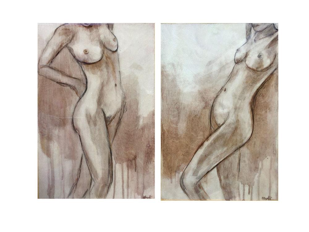 Interchange Nudes, 30 x 45cm (set x 2)
