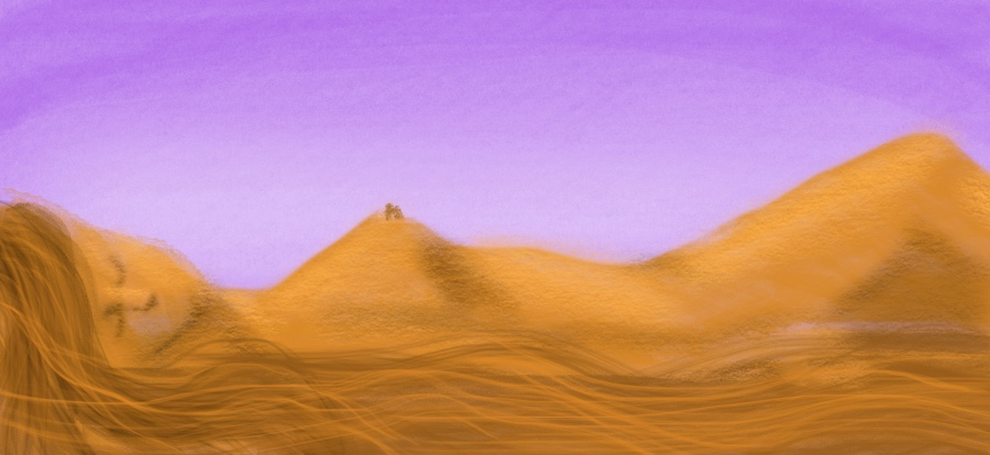 Sketch 2: A beautiful desert or woman's body?