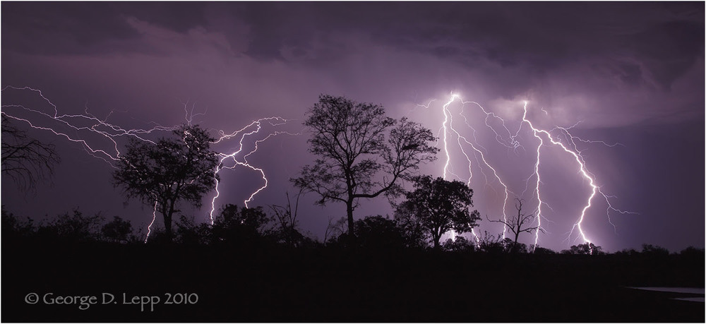 Lightning at Savuti Camp in Botswana. © George D. Lepp 2010  LA-BO-SA-0001