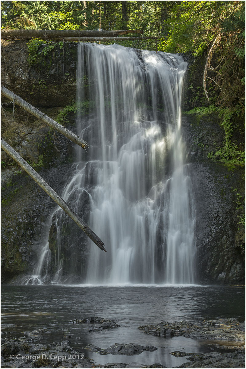 North Silver Falls, Silver Falls State Park, OR. © George D. Lepp 2012  LO-WF-SN-2002