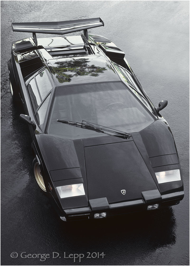 Lamborghini Countach, Car and Driver Mag. © George D. Lepp 2014  T-CA-LA-0003