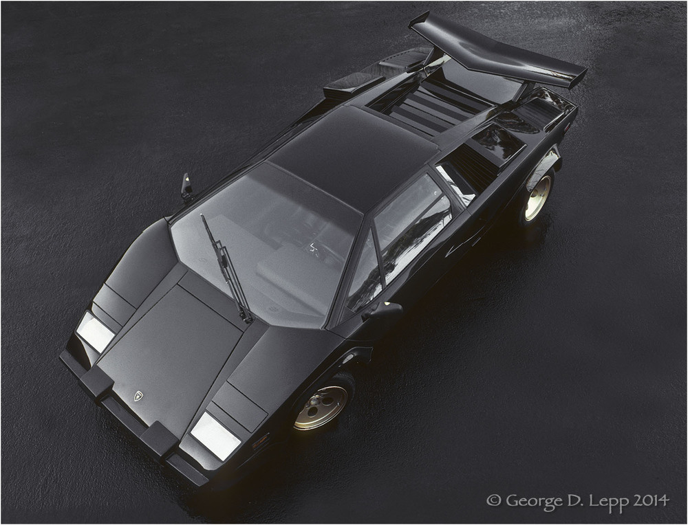 Lamborghini Countach, Car and Driver Mag. © George D. Lepp 2014  T-CA-LA-0004