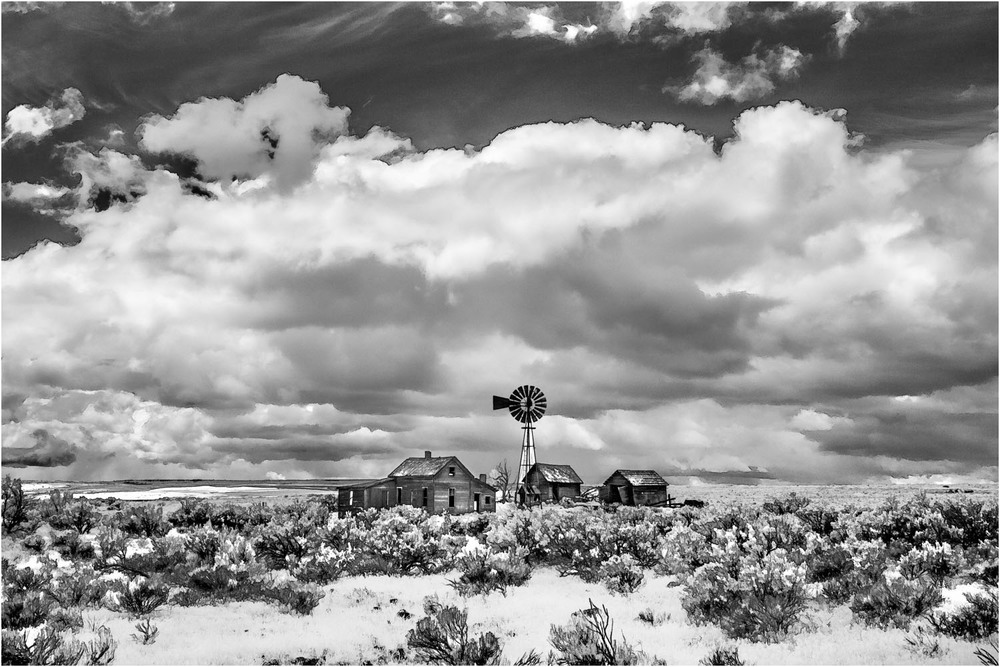 Abandoned farm in Eastern Oregon, infrared. © George D. Lepp 2014  LO-GG-0005