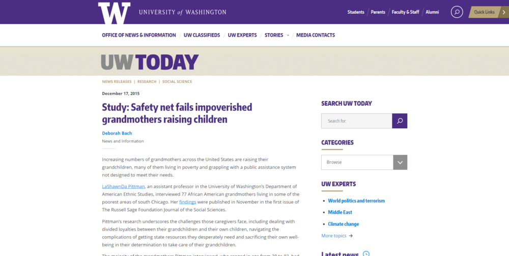 Study  Safety net fails impoverished grandmothers raising children   UW Today.png