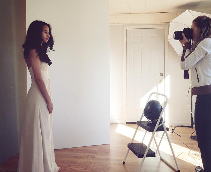 Natasha Staszak Photographing in her studio.