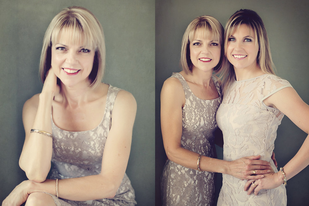 Portrait of a Mother and daughter. Beauty portraits.