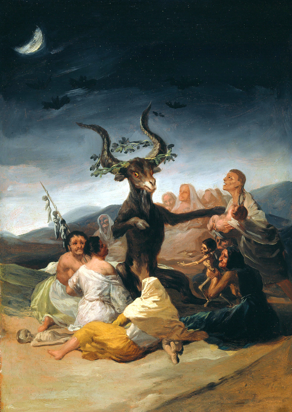 "Francisco Goya's ""Witches Sabbat"" oil painting 1798"