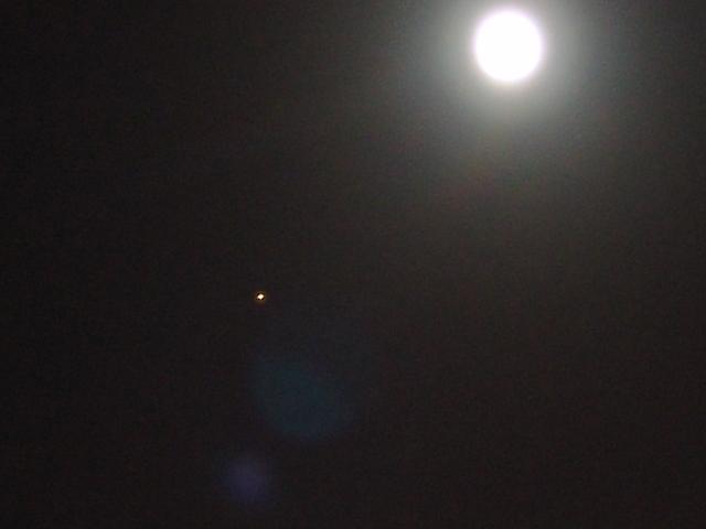 Moon and Mars.