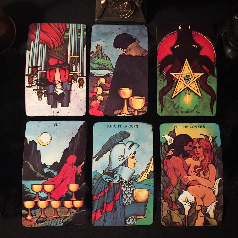 Tarot spread photo by Michael Cardenas