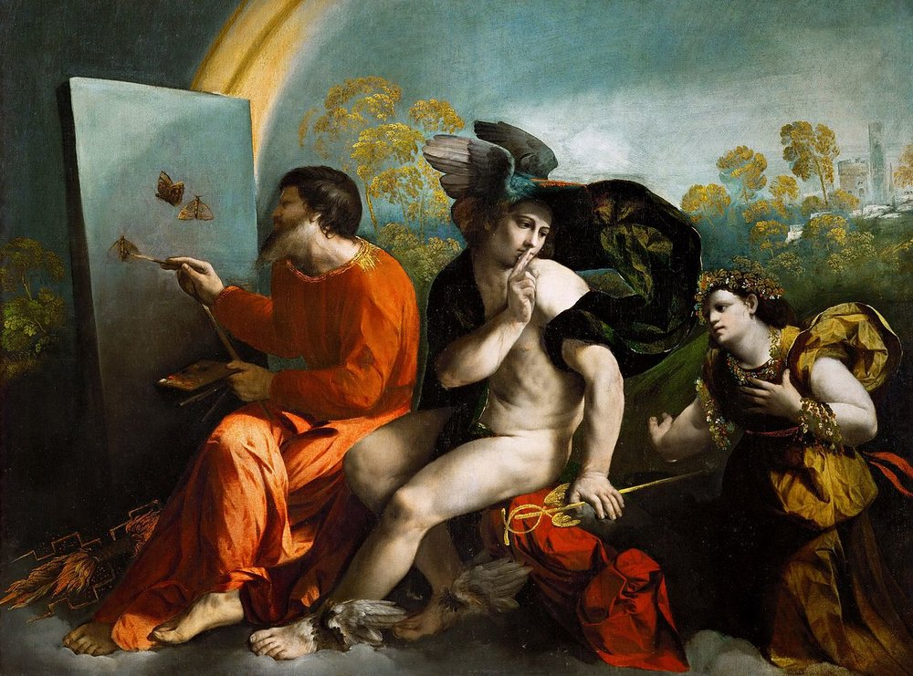 Jupiter, Mercury and Virtue by Dosso Dossi