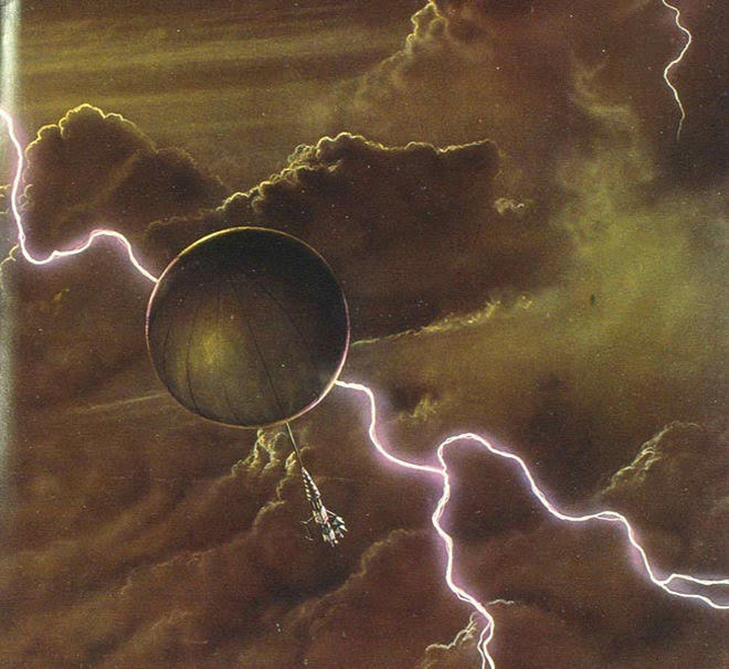 An illustration of lightening from planet Venus